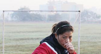 Photos: Mary Kom in shipshape for Olympic challenge