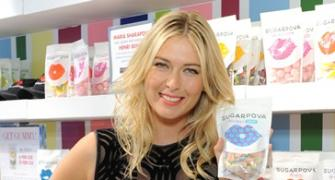 Sexy Sharapova flaunts new look at Sugarpova anniversary