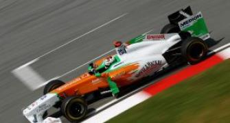 Sutil and Bianchi in Force India test
