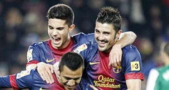 King's Cup: Barca maul Cardoba 5-0 after Villa double