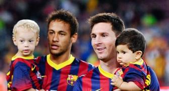 Messi says emotional goodbye to Neymar