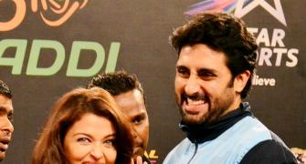 PHOTOS: Amitabh, Aishwarya say kabaddi, kabaddi for Abhishek's team