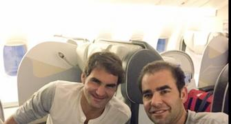 Just landed in Delhi: Federer