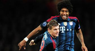 CLeague PHOTOS: Bayern overpower 10-Man Arsenal; Atletico grab late win