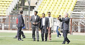 FIFA team inspects Cooperage ground as part of U-17 WC preparation