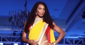 First Look: Venus Williams wears sari, dances to Bollywood number!