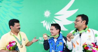 India at Asiad on Day 2: Men win bronze in 10m air pistol; two squash medals assured