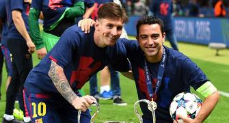I can't ask for any more, to leave this way is perfect: Xavi