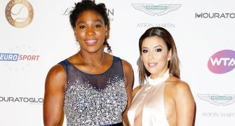 PHOTOS: Tennis stars Serena, Caroline party with Eva Longoria