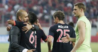 Champions League PHOTOS: Bayern see off Olympiakos; Roma hold Barca
