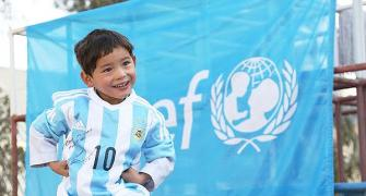 Messi makes five-year old Afghan boy's day