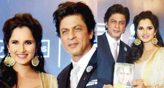 Fan and friend, SRK compliments Sania's determination at book launch