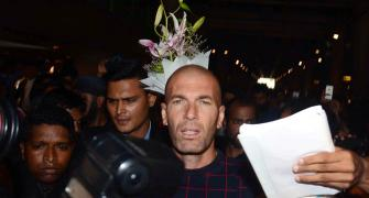 First Look: France football legend Zidane in Mumbai