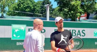 First Look: Djokovic working on finding lost mojo with coach Agassi