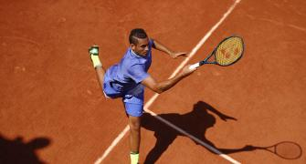 French Open: Kyrgios gets down and dirty with Grosjean in his box