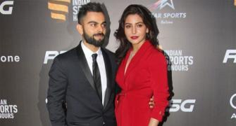 PHOTOS: Anushka-Virat up style quotient at Indian Sports Honours