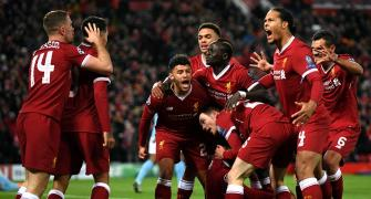 Champions League PIX: Liverpool rout Man City at Anfield