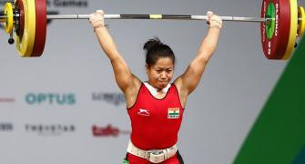 CWG PIX, Day 2: Sanjita's gold, Lather's bronze ensure great outing for India