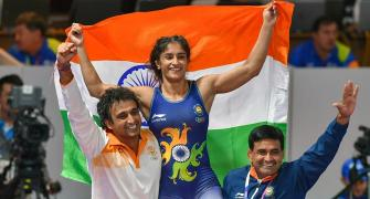 PHOTOS: Wrestler Vinesh bags historic GOLD at Asian Games