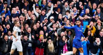 EPL PIX: Chelsea beat Fulham 2-0; Arsenal sink Spurs to go fourth