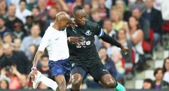 Soccer Aid PHOTOS: When Mo Farah duelled with Usain Bolt for charity