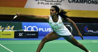 SEE: Sindhu practices ahead of Olympics