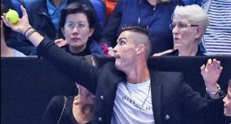 Ronaldo becomes ball kid at ATP Finals