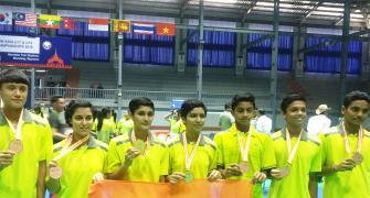 Indian shuttlers win five medals in Asia Junior championship
