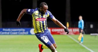 Bolt fires two goals in Australia's Central Coast Mariners trial