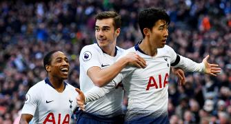 EPL PIX: Tottenham stay in title hunt with win over Leicester