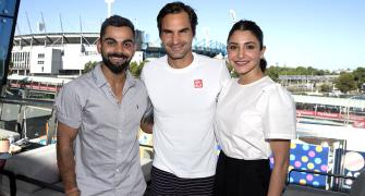 PIX: Virat-Anushka catch up with Federer at Aus Open