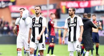 Ronaldo-less Juve suffer first league defeat of the season
