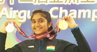 Asian Airgun C'ships: Sarabjot, Esha win gold