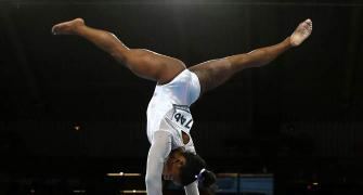 Biles by miles: US gymnast claims another record