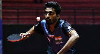 TT ace Sathiyan training with robot during lockdown