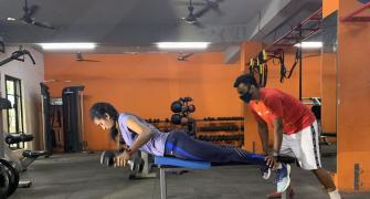 Sindhu hits the gym!