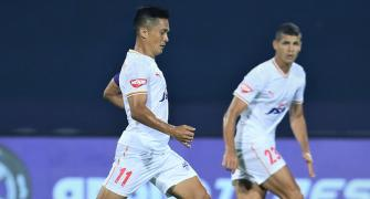 Chhetri's penalty strike gives BFC first win in ISL