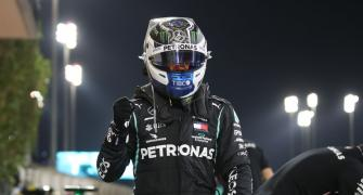 Bottas on pole as Russell qualifies second at Sakhir