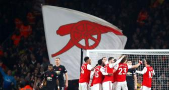 EPL Photos: Arsenal overpower United, Spurs lose