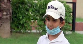 SEE: Can this 7-year-old be India's next golf queen?