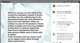 Flood relief in Assam, Bihar: Kohli-Anushka step up