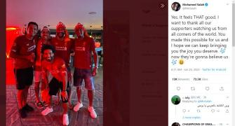 PICS: How Liverpool players celebrated EPL victory