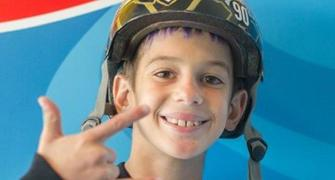 Lockdown: 11-year-old Brazilian breaks skating record