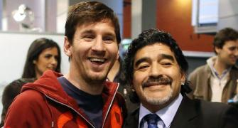 He isn't going anywhere; Maradona is eternal: Messi