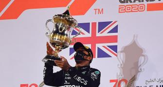 PICS: Hamilton wins crash-marred Bahrain Grand Prix