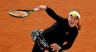 French Open PIX: Ostapenko upsets second seed Pliskova