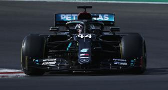 Hamilton on course to break Schumi's record after pole