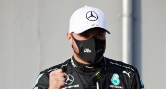Bottas on pole at Imola with Hamilton alongside