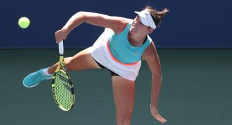 US Open: Brady tames Kerber to reach quarters