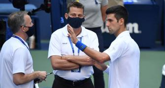 Djokovic disqualification: Ref says 'no other option'